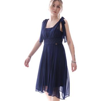 Oblačila Ženske Kratke obleke Fracomina FR20SP599 Modra