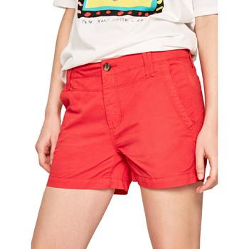 Oblačila Ženske Kratke hlače & Bermuda Pepe jeans PL800695 Rdeča