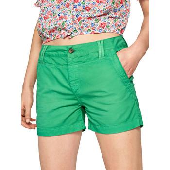 Oblačila Ženske Kratke hlače & Bermuda Pepe jeans PL800695 Zelena