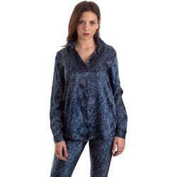 Oblačila Ženske Srajce & Bluze Versace B0HVB601S0683904 Modra
