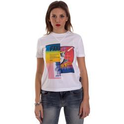 Oblačila Ženske Majice s kratkimi rokavi Versace B2HVB7V630331003 Biely
