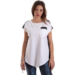 Oblačila Ženske Majice s kratkimi rokavi Versace D3HVB657S0683904 Biely