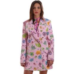 Oblačila Ženske Jakne & Blazerji Versace C2HVB507SN75SK69 Roza