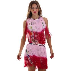 Oblačila Ženske Kratke obleke Versace D2HVB406S0777K67 Biely