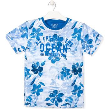 Oblačila Dečki Majice s kratkimi rokavi Losan 013-1003AL Modra