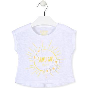 Oblačila Deklice Majice s kratkimi rokavi Losan 016-1006AL Biely