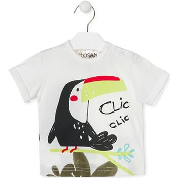 Oblačila Otroci Majice s kratkimi rokavi Losan 017-1012AL Biely