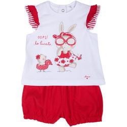 Oblačila Deklice Otroški kompleti Chicco 09076380000000 Biely
