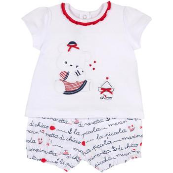 Oblačila Deklice Otroški kompleti Chicco 09076458000000 Biely