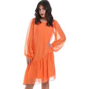 Oblačila Ženske Kratke obleke Gaudi 011BD15035 Oranžna