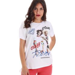 Oblačila Ženske Majice s kratkimi rokavi Gaudi 011BD64037 Biely