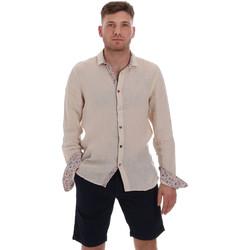 Oblačila Moški Srajce z dolgimi rokavi Sseinse CE538SS Bež