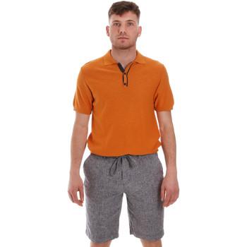 Oblačila Moški Polo majice kratki rokavi Sseinse ME1528SS Oranžna