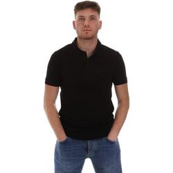 Oblačila Moški Polo majice kratki rokavi Sseinse ME1517SS Črna