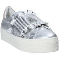 Čevlji  Ženske Slips on Mally 6174 Siva