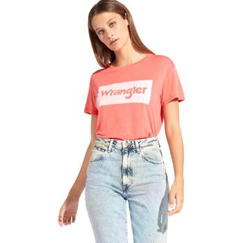 Oblačila Ženske Majice s kratkimi rokavi Wrangler W7016D Rdeča