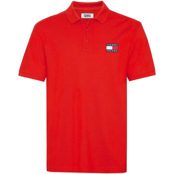 Oblačila Moški Polo majice kratki rokavi Tommy Jeans DM0DM07456 Rdeča
