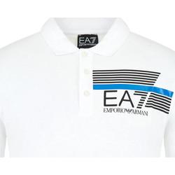 Oblačila Moški Polo majice kratki rokavi Ea7 Emporio Armani 3HPF17 PJ02Z Biely