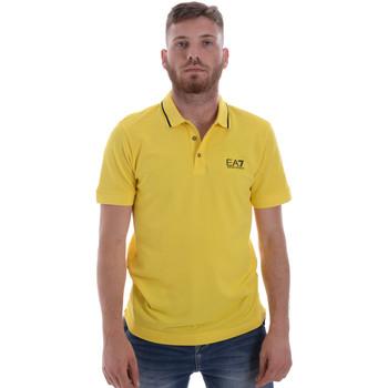 Oblačila Moški Polo majice kratki rokavi Ea7 Emporio Armani 8NPF06 PJ04Z Rumena
