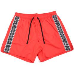 Oblačila Moški Kopalke / Kopalne hlače Ea7 Emporio Armani 902000 0P734 Rdeča