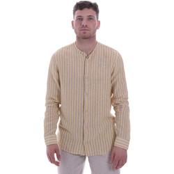 Oblačila Moški Srajce z dolgimi rokavi Sseinse CE534SS Bež