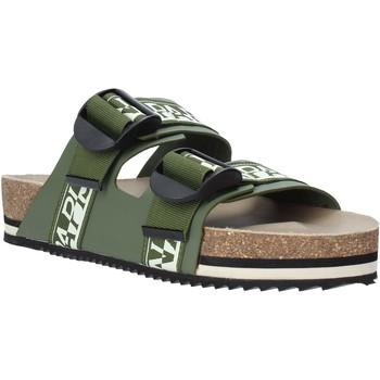 Čevlji  Moški Natikači Napapijri NA4ETH Zelena