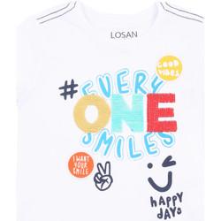 Oblačila Deklice Majice s kratkimi rokavi Losan 015-1032AL Biely