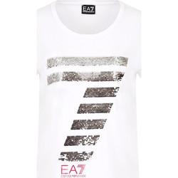 Oblačila Ženske Majice s kratkimi rokavi Ea7 Emporio Armani 3HTT41 TJ12Z Biely
