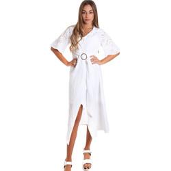Oblačila Ženske Dolge obleke Fracomina FR20SM561 Biely