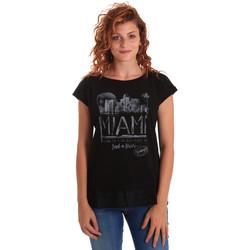 Oblačila Ženske Majice s kratkimi rokavi Key Up 5Z10S 0001 Črna