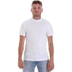 Oblačila Moški Majice s kratkimi rokavi Les Copains 9U9013 Biely