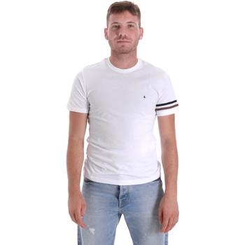 Oblačila Moški Majice s kratkimi rokavi Les Copains 9U9014 Biely