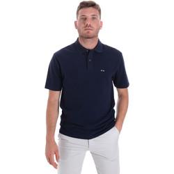 Oblačila Moški Polo majice kratki rokavi Les Copains 9U9023 Modra