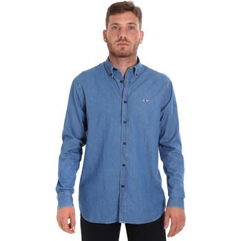 Oblačila Moški Srajce z dolgimi rokavi Les Copains 9U2361 Modra