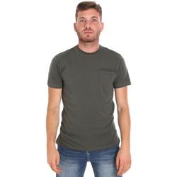 Oblačila Moški Majice s kratkimi rokavi Les Copains 9U9010 Zelena
