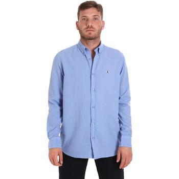 Oblačila Moški Srajce z dolgimi rokavi Les Copains 9U2371 Modra