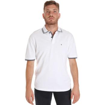 Oblačila Moški Polo majice kratki rokavi Les Copains 9U9020 Biely