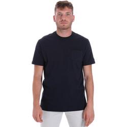 Oblačila Moški Majice s kratkimi rokavi Les Copains 9U9010 Modra