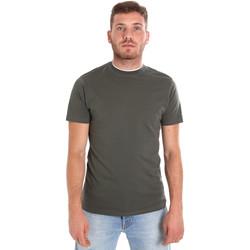 Oblačila Moški Majice s kratkimi rokavi Les Copains 9U9013 Zelena