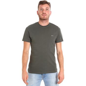 Oblačila Moški Majice s kratkimi rokavi Les Copains 9U9011 Zelena
