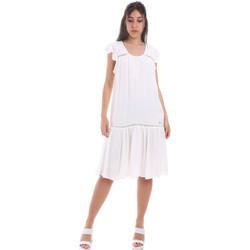 Oblačila Ženske Kratke obleke Gaudi 011BD15015 Biely