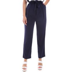 Oblačila Ženske Hlače Chino / Carrot Gaudi 011BD25040 Modra