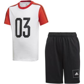Oblačila Otroci Trenirka komplet adidas Originals FL2810 Biely