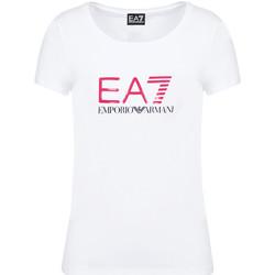 Oblačila Ženske Majice s kratkimi rokavi Ea7 Emporio Armani 8NTT63 TJ12Z Biely