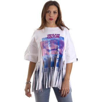 Oblačila Ženske Majice s kratkimi rokavi Versace B2HVB7V730384003 Biely
