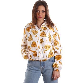 Oblačila Ženske Puloverji Versace C9HVB92525115003 Biely