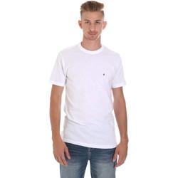 Oblačila Moški Majice s kratkimi rokavi Les Copains 9U9011 Biely