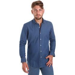 Oblačila Moški Srajce z dolgimi rokavi Betwoin DENIM78 6635535 Modra