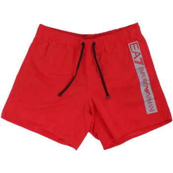Oblačila Moški Kopalke / Kopalne hlače Ea7 Emporio Armani 902000 0P732 Rdeča