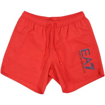 Oblačila Moški Kopalke / Kopalne hlače Ea7 Emporio Armani 902000 0P738 Rdeča
